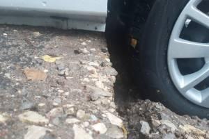 В Стародубе изуродовали въезд во двор после ремонта теплотрассы