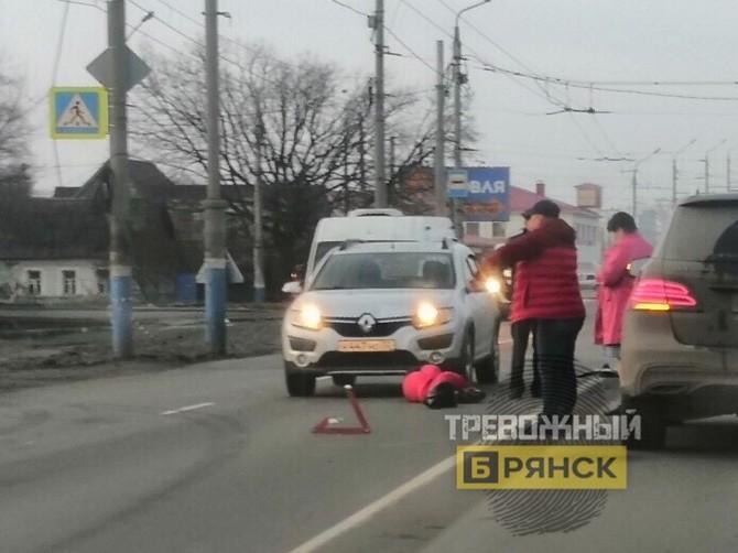 В Брянске на улице Литейной сбили человека