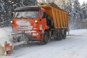 На дороги Брянской области за сутки высыпали более 1,7 тысячи тонн песка