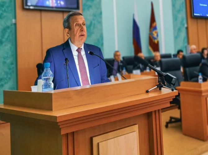 Владимир Попков вновь избран спикером Брянской областной думы