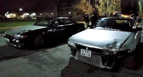 В Брянске полицейские поймали двоих любителей ночного дрифта