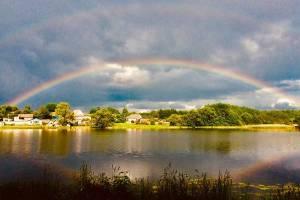 Двойная радуга порадовала жителей Брянской области