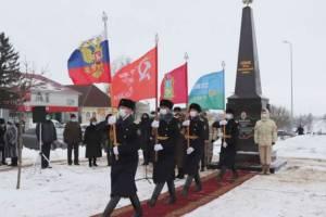 Стелу «Севск – город партизанской славы» установили на главной площади