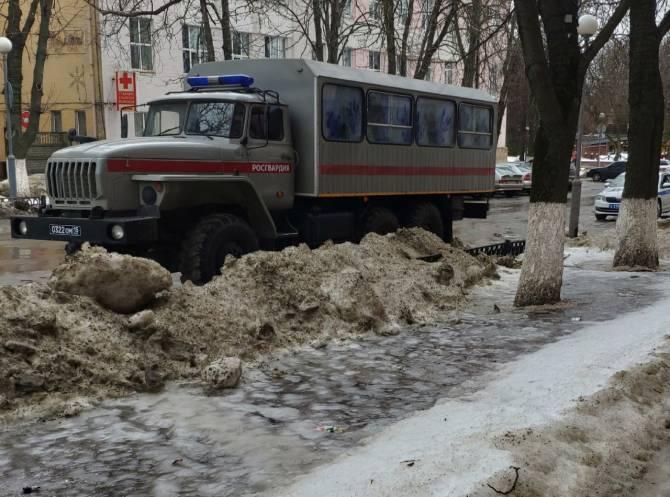 В годовщину гибели Немцова в центре Брянска появился ОМОН