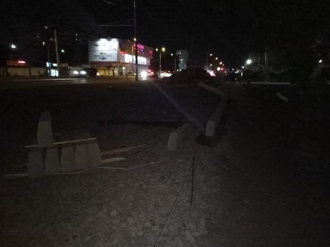 В Брянске на улице Авиационной начали строить новую остановку