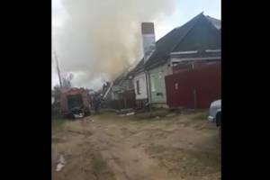 В Брянске на переулке Ново-Советском сгорел жилой дом