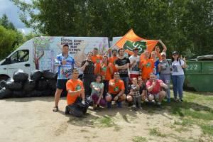 В Брянске навели порядок на берегу озера ДСК