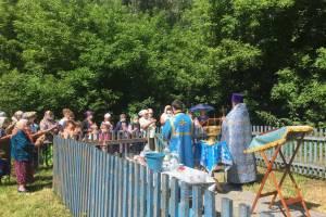 На месте Казанского храма в брянском селе Ружное состоялось первое богослужение