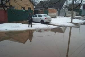 Житель Новозыбкова устроил рыбалку в огромной луже перед домом
