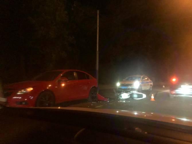 В Брянске возле ЖК «Речной» разбился мотоциклист