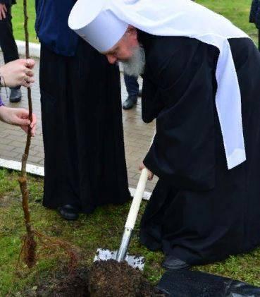 В Брянске митрополит Александр посадил дерево