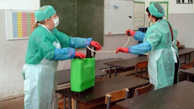 В жирятинской школе провели дезинфекцию после заражения COVID-19