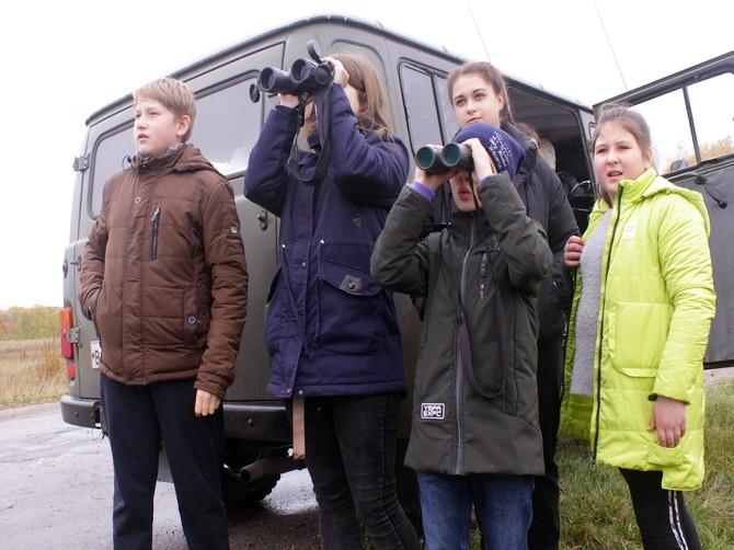 В «Брянском лесу» школьники увидели редких птиц