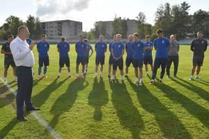 Замгубернатора провел мотивационный тренинг с брянскими динамовцами