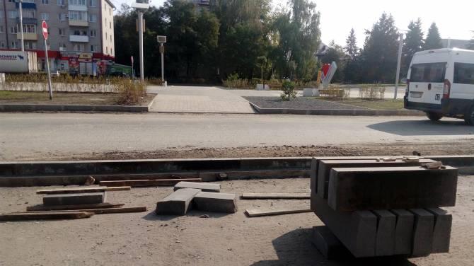 Брянские чиновники забыли об инвалидах при строительстве тротуара на «Литии»