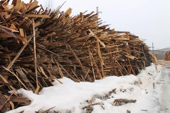 В Брянске деревообрабатывающее предприятие устроило свалку