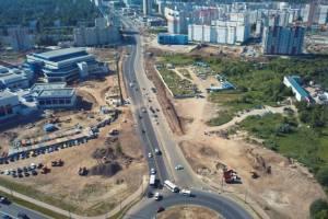 В Брянске на улице Объездной начали строить подъезды к Дворцу единоборств