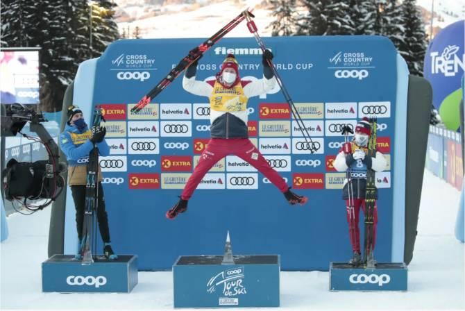 Брянский лыжник Большунов назвал крутой свою победу на «Тур де Ски»