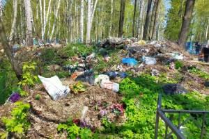 Городское кладбище в Клинцах накануне Радоницы завалили мусором