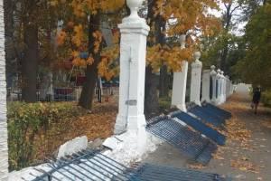 В Новозыбкове начался демонтаж ограждения горпарка