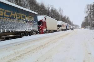 На брянской границе с Украиной снова выстроилась очередь из фур