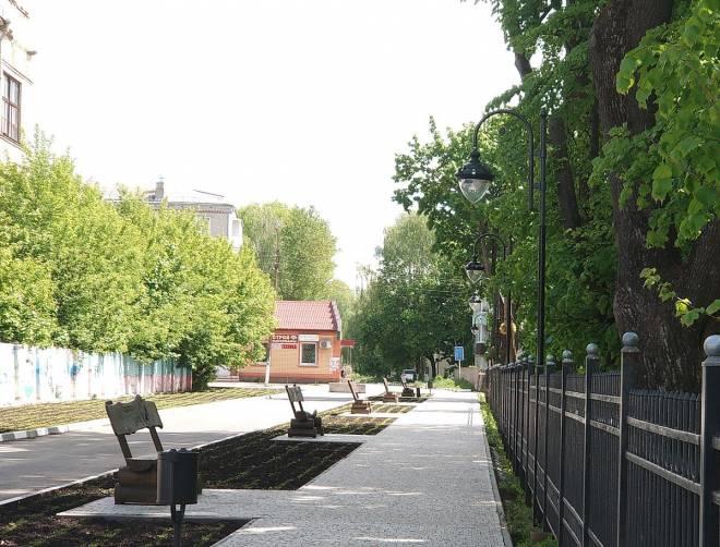 В парке Стародуба установили декоративные фонари