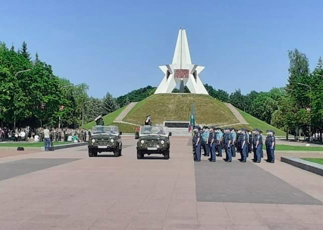 В Брянске началась вторая репетиция Парада Победы