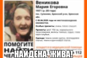 В Брянске пропавшую 83-летнюю пенсионерку нашли живой