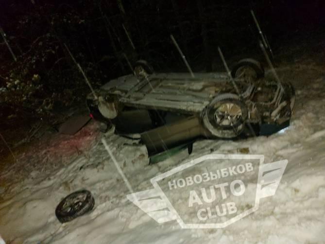 В перевернувшейся под Климово иномарке получила ранения пенсионерка