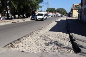 В Брянске на Димитрова до конца недели отремонтируют тротуары