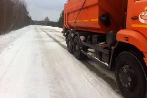 За ночь на брянские дороги высыпали более 1500 тонн песко-соляной смеси