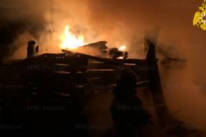 В Почепе ночью случился пожар