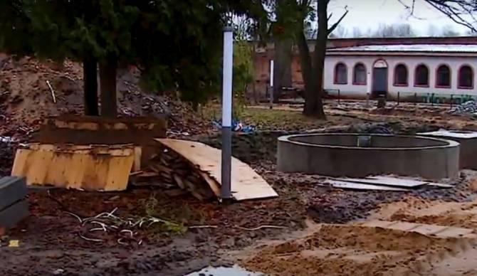В Новозыбкове барнаульский подрядчик сорвал сроки ремонта парка