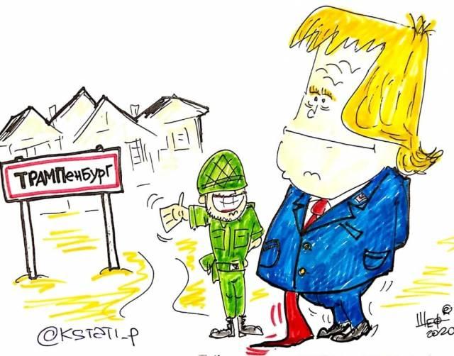 Брянский карикатурист Шевцов высмеял посёлок в честь Трампа