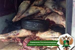 На Брянщине уничтожили белорусское мясо
