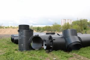 В Брянске строят ливневку для новой дороги по улице Советской