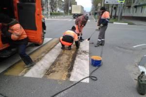 В Карачеве дорожников обязали обновить «зебры» у школ