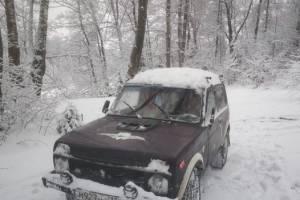 В Белых Берегах автомобилист повредил лыжню
