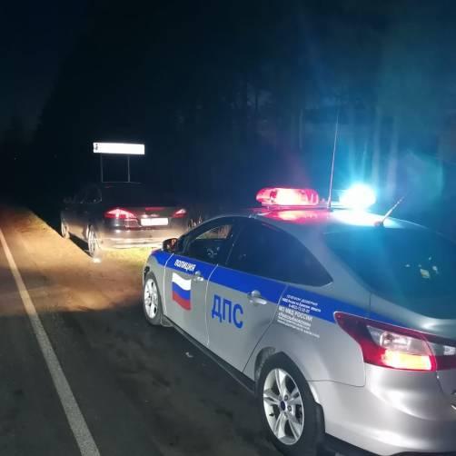 На брянской трассе поймали пьяную автоледи на Ford
