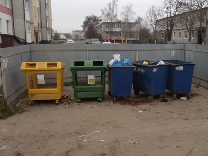 В октябре в Брянске установили 300 новых евроконтейнеров
