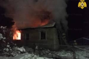 Во время пожара в Жуковском районе пострадали люди