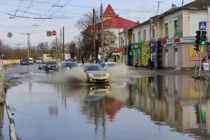 После оттепели дороги Брянска ушли под воду