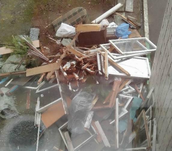 В Брянске жильцы многоэтажки пожаловались на разрастающую под окнами свалку