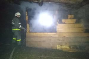 Под Почепом сгорел сарай: есть пострадавший