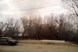 В Брянске загорелось поле напротив торгового центра «Аэропарк»