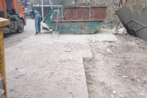 В Брянске путь к садику «Родничок» очистили от мусора