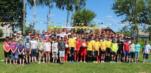 В Стародубе открыли новую футбольную площадку