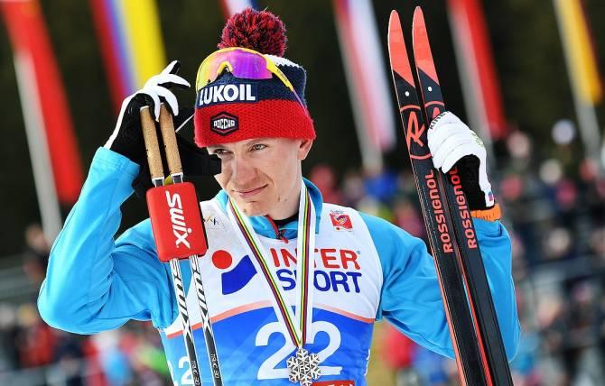 Брянский лыжник Большунов вышел на второе место в общем зачете «Тур де Ски»