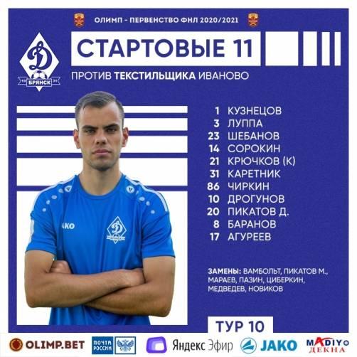 Стартовал первый посткарантинный матч брянского «Динамо»
