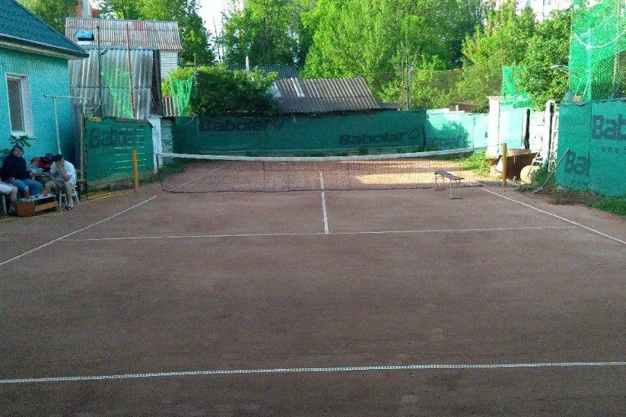 Брянец построил на своем участке теннисный корт для детей